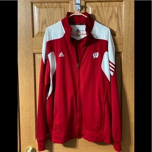 Men's Adidas Wisconsin Badger XL Jacket